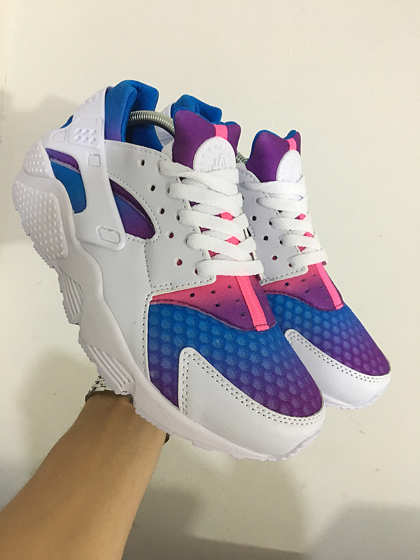 nike air huarache run men Customise white blue pink